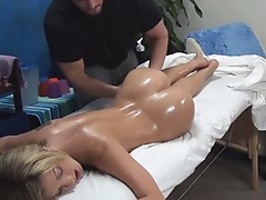 Amy lured and fucked by her massage therapist onto hidden camera