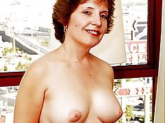 Old granny Amy Lynn craves hard ramrod