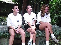 3 hawt sweetheart in outdoor non nude video