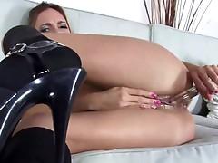 Hot exotic babe masturbating her wet cunt till orgasm