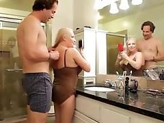 New semen onto giant Milf titties