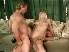 Nikki Hunter is doused in Ramwang Juice after a double Jock fucking
