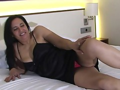 Naughty mature slut having fun with herself