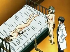 Sexy anime doxy gets double penetrated by a shEMale and a dude