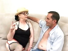 Granny whore having some pleasure with her Man