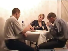 Mommy participates in sexy threesome after