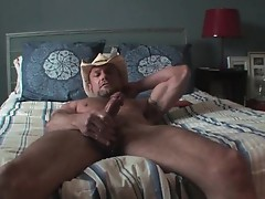 Chad Davis jerking his massive gay cock