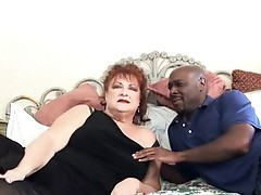 Grandma receives snatch pounded by big black cock