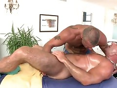 Fine guy gets amazing gay massage and sucking