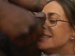 White milf fuckt by big black cocks