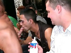 Bunch of drunk gay guys go crazy in club