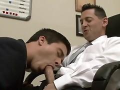 Guy blowing his gay boss