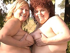 Bbw lesbo tittie tease