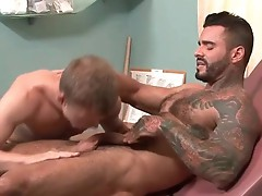 Alexander gets his ass pumped by hunk