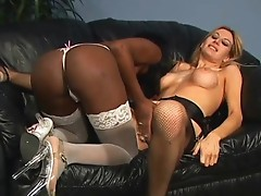 Interracial lesbians black and white hot