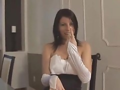 Satin gloves porno