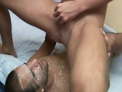 Cum Hungry Gay Gets Heavy Creampie