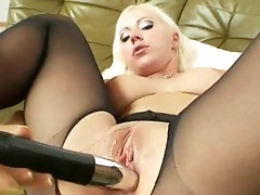 Bibi Fox loves to Masturbate with her dark hose