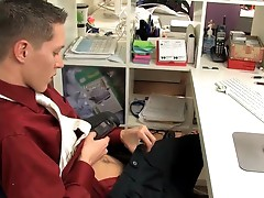 Dude gets penis suck from gay boss
