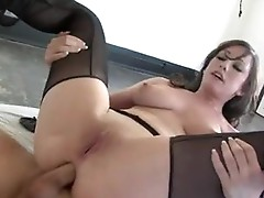 Jennifer White get a hard dp drill