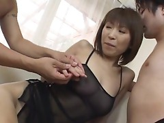 Admirable arse bitch Jun Kusanagi in gangbang