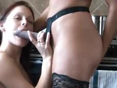 Charmane star lesbian sex in the kitchen