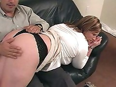 Over the knee spanking video