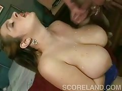 Big Boobs Are Drenched In Cum!
