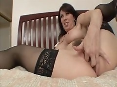 Classy Rayveness shagging in black stockings