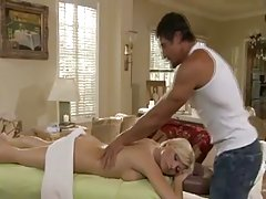 Handsome masseur became a good fucker