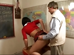 Khloe Fucked by Teacher bareback
