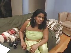 Huge Tit Indian Babe Takes 2 Cocks