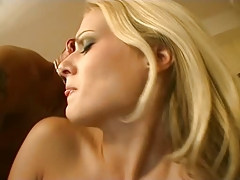 Hot blonde Kristina interracial sex