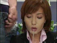 Asian newsreader bukkake 2