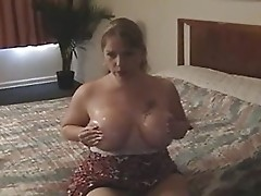 Busty Wife Services Husband Cock and Balls