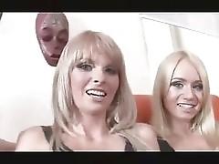 3 hot Russian girls getting fucked