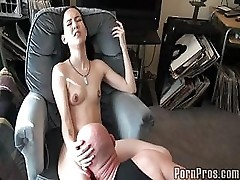 Slim Chick Fucked By Bald Guy