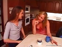 Two cute British twats have sex. Check out the blond fucking her bitch with a strap on like she&#039;s a dog.