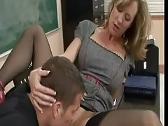 Slut teacher Brandi Love fucks her student