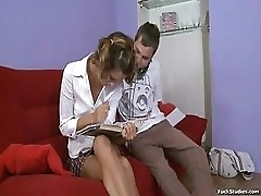Russian Teen Vlaska Fucked On Red Couch