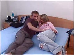 couple makes love on bed