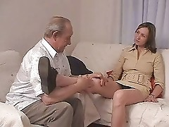 Old man fucks his grandson's girlfriend