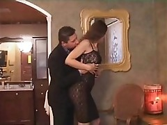 Tgirl and dude fuck each other in turn