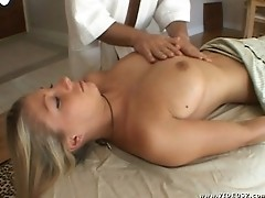 Tiffany gets a special massage.