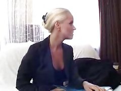 Hardcore with sexy blonde after casting