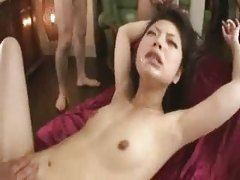 Shaved Asian Babe Gang Bang Mass Facial Bukkake