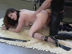 Pregnant slut is tied and pounded as a worst slave