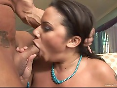 Luscious Alexis Silver gets her mouth crammed with cock