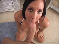 Julie Knight wraps her lips round this stiff shaft