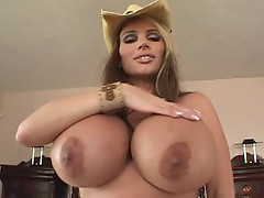 Lisa Lipps shows her enormous tits as she fucks